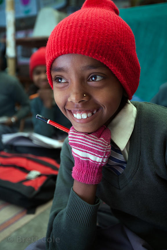 A girl at a school in Varanasi, India operated by the Dutch NGO Duniya (duniya.org)