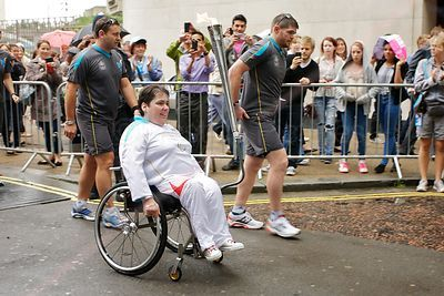 Paralympic Wheelchair User Torch Bearer