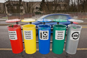 Pavement Waste Bins