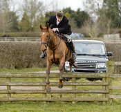 Russell Cripps jumping a fence at Burrough House