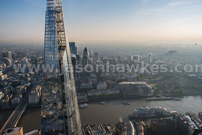 Aerial view at the top of The Shard, London