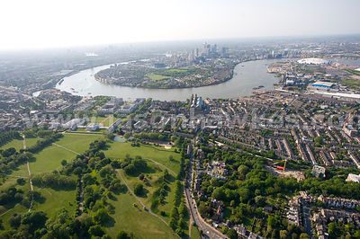 Old Royal Naval College and Isle of Dogs, London