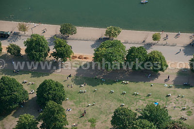 Aerial view of Hyde Park