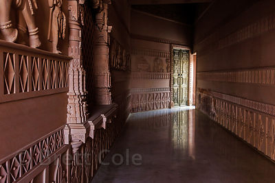 Interior of the Nareli Jain Temple, Ajmer, Rajasthan, India