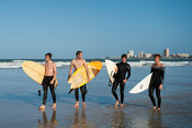 Surfers on the beach, Port Elizabeth, Eastern Cape, South Africa