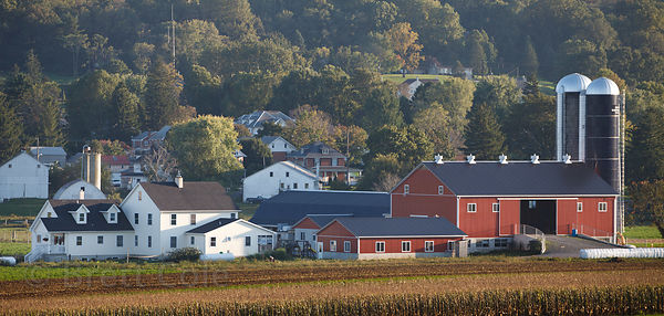 Gorgeous farms in Amish country, Lancaster, Pennsylvania