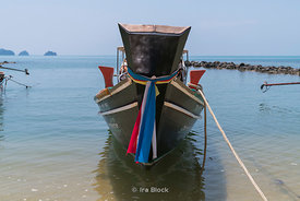 A fishing boat on the western coast of Koh Samui island in Thailand.