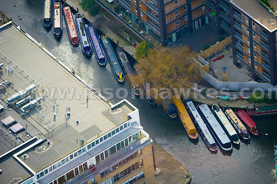 Aerial view of Regent's Canal, London