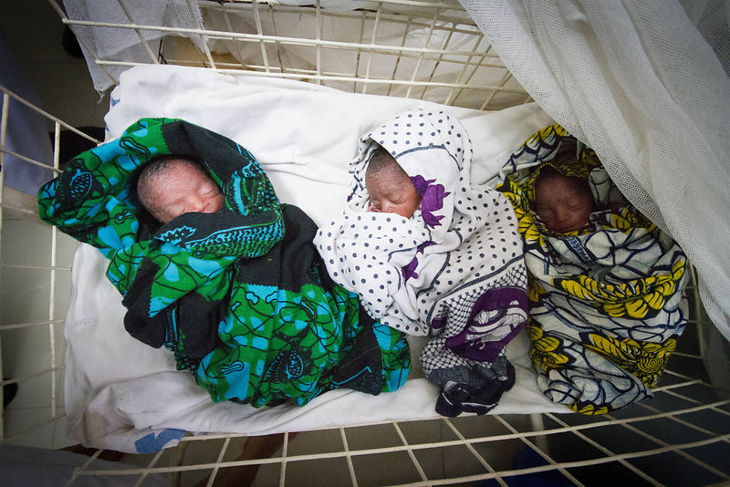 Premature triplets, Sekou Toure Hospital, Mwanza, northern Tanzania (photo for the Touch Foundation.)