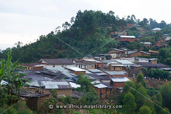 Village at the edge of Nyungwe Forest National Park, Rwanda