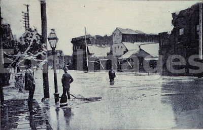 Galveston hurricane of 1900: street after flood