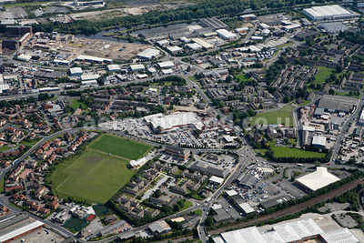 aerial photograph of the area around the  Penny Hilly Centre, Hunslet, Leeds