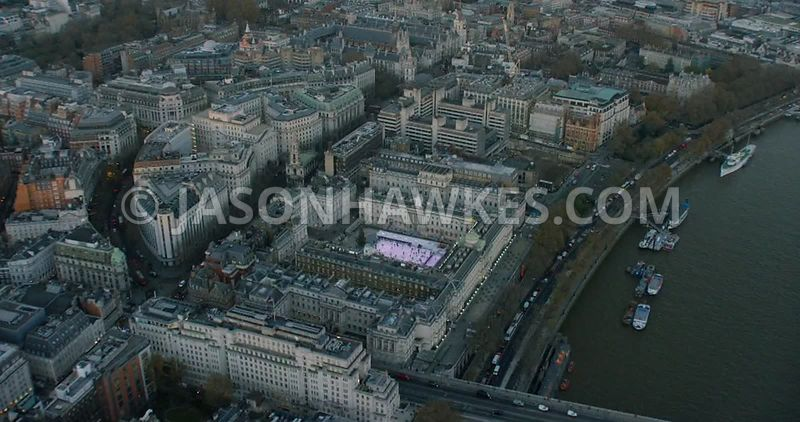 Aerial footage of Somerset House