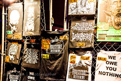 Merch on sale, Philip H Anselmo and the Illegals live 2014
