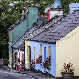 Cottages in the village of Cong, home of The Quiet Man, Ireland