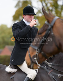 Tom Abel Smith at the meet - Belvoir Hunt Opening Meet 2016.