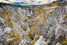 728 Early Snow in Yellowstone Grand Canyon