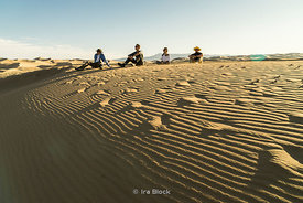 Tourists in the South Gobi Desert, Mongolia
