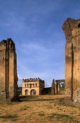 Fasil Ghebbi (Royal Enclosure), walled complex of castles in the 17th century capital of Ethiopia, Gondar, Ethiopia