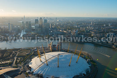 Aerial view of the O2 Arena, London