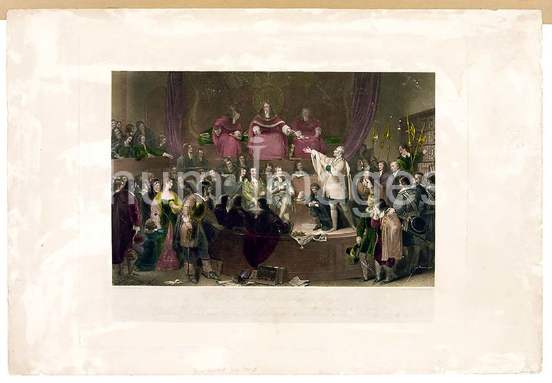 The trial of the honourable Colonel Algernon Sidney, 1683. painted by F.P. Stephanoff, Esq. [London] 1835