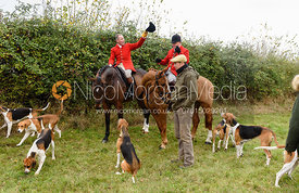 John Holliday, Michael Dungworth at Belvoir Hunt Opening Meet 2018