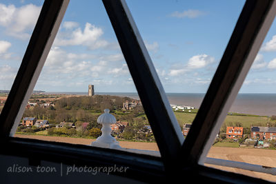 View from lamp room at the top of Happisburgh Lighthouse