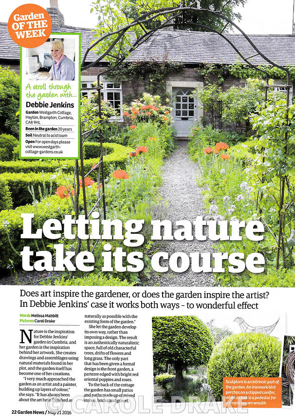 Westgarth Cottage, Garden News, May 2016