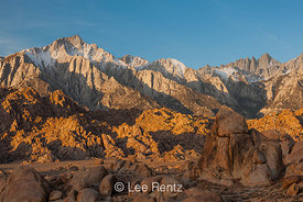 Lone Pine Peak and Mount Whitney from the Alabama Hills
