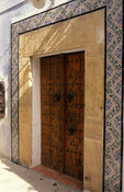 traditional door in the medina, Hammamet, Tunisia