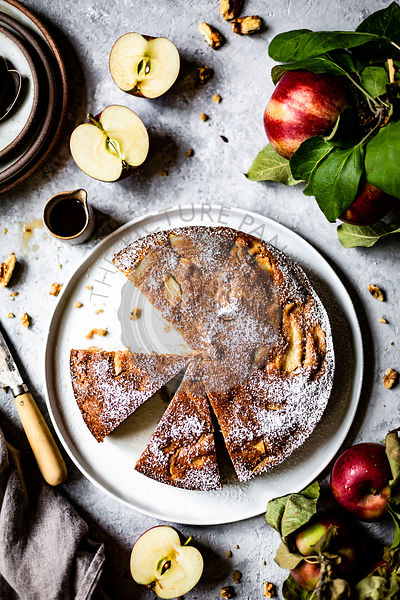 Apple Walnut Maple Cake
