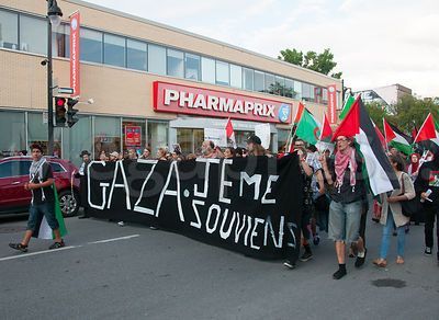 Hundreds of Quebecers protest against Gaza bombings in Montreal Canada