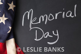 Memorial Day Sign Written on a Chalkboard