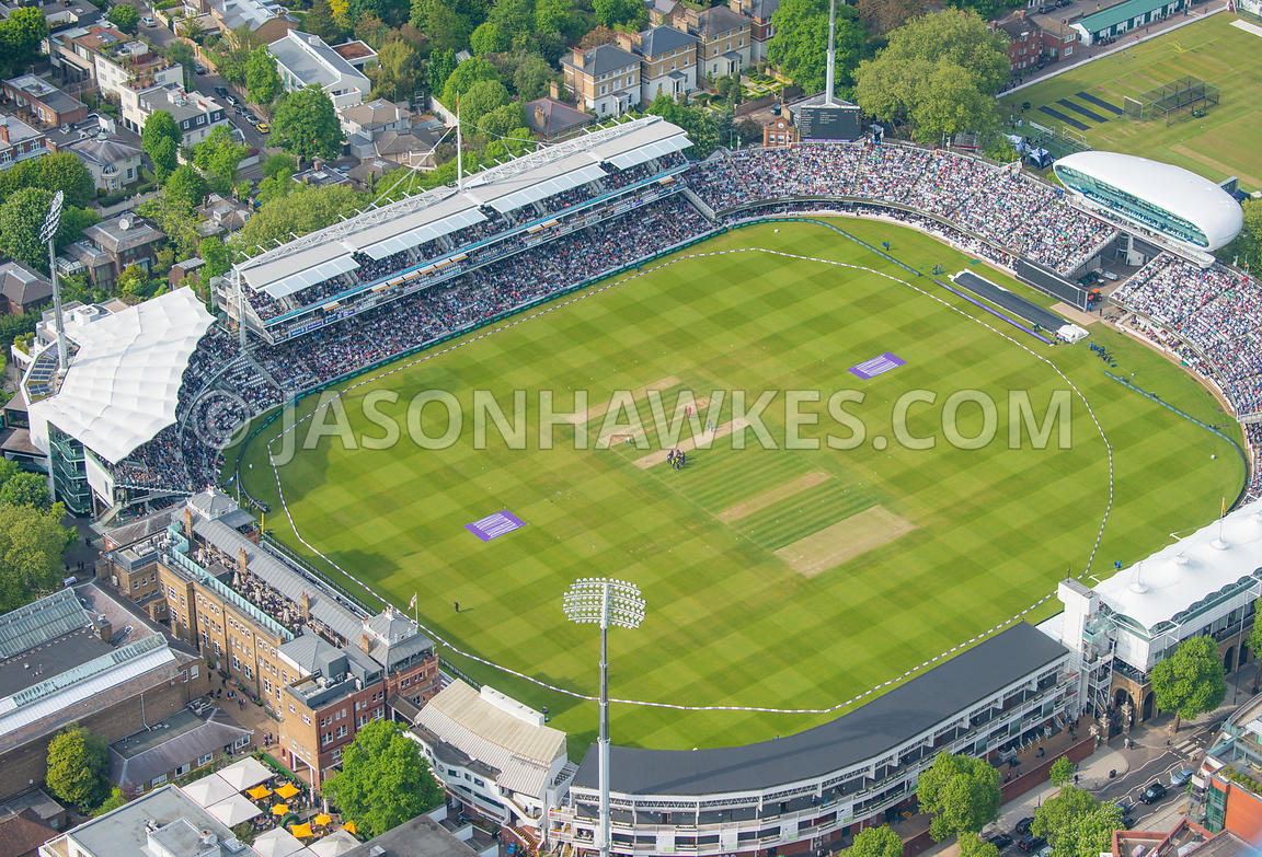 Aerial view of Lord's cricket Ground, London. England