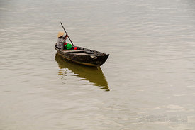 Boat on River in Hoi An