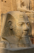 Colossal head of Rameses II in the Temple of Luxor, Luxor, Egypt