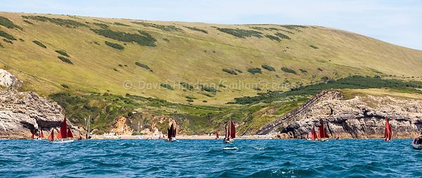 Drascombes approaching Lulworth Cove, 201707070147