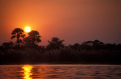Shire river at sunset, Liwonde National Park, Malawi