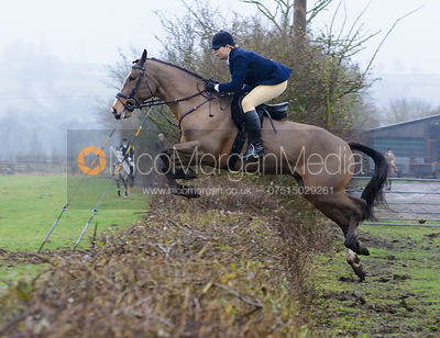 Sophie Osborne jumping a hedge at Town Park Farm