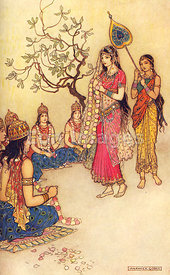 Damayanti Choosing a Husband by Warwick Goble