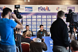 Xavier SABATE of MVM VESZPREM, Raul GONZALES of Vardar during the Final Tournament - Final Four - SEHA - Gazprom league, Fina...
