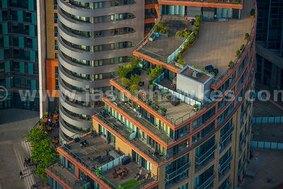 Aerial view of the Peninsula Building, West End Quay, London