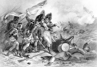 Death of Pakenham at New Orleans during War of 1812