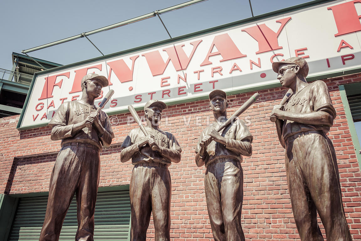 Boston Fenway Park Sign Gate B Statues