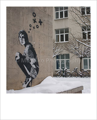Berlin Polaroid - Street art by Xoooox