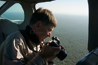 Photographer Michel Roggo  taking aerial shots over Quintana Roo, Yucatan Peninsula, Mexico, February 2014 Taken for the Fres...
