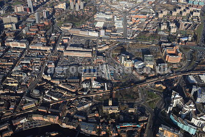 aerial photograph of Leeds Market