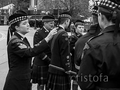 counting at the Remembrance Day parade in Victoria