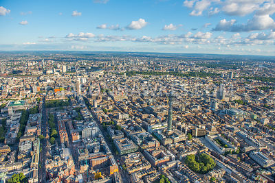 Aerial view of West End of London., A400, Centrepoint, Charlotte St, fitzrovia, Fitzroy Square Garden, london, Maple St, Tott...