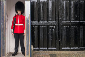 St James's Palace Queen's Guard in London, UK.